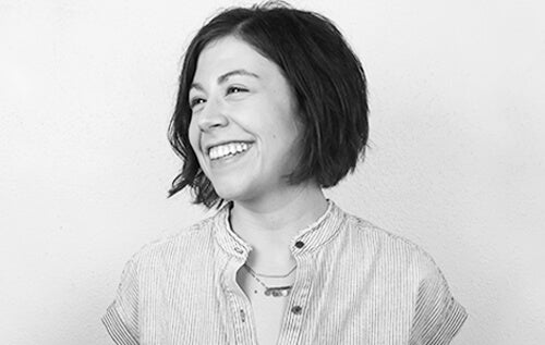 Black-and-white portrait of EPIC marketing communications lead Hope Zeckmeister