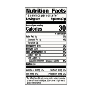 An image of the nutrition facts for EPIC's Maple Bacon Bits