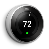 3rd gen Nest Learning Thermostat Front Image Black