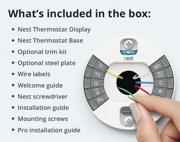 3rd gen Nest Learning Thermostat What's in the Box Mobile