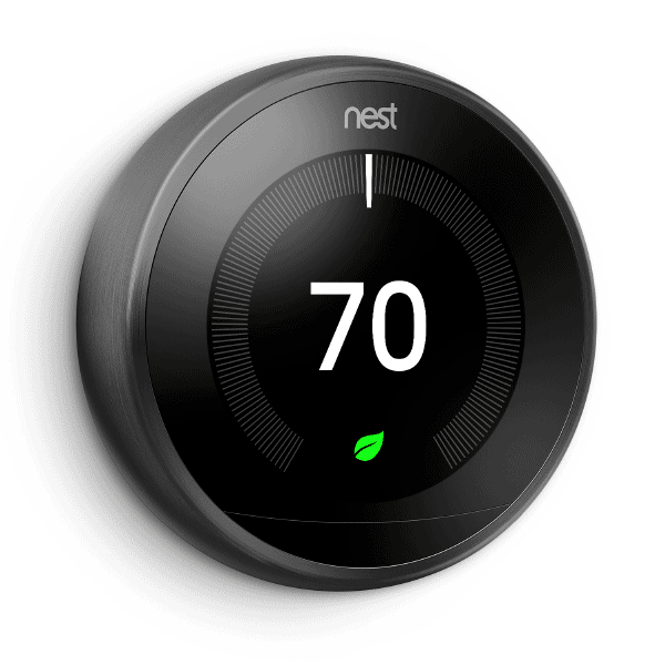 3rd Gen Nest Learning Thermostat - Black With Install