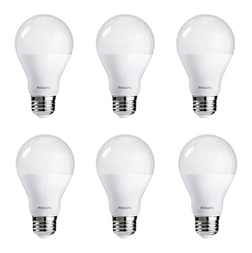 Philips 60-Watt Equivalent Bright White A-19 LED (6-Pack) image 18439911304