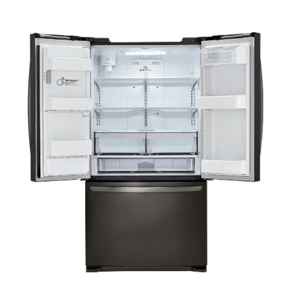 LG 24.1 CU. FT. BLACK STAINLESS STEEL FRENCH DOOR REFRIGERATOR - ENERGY STAR image 23148888904