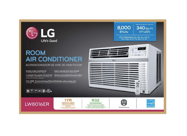 LG 8,000 BTU 115-Volt Window Air Conditioner with Remote and ENERGY STAR image 23180605640