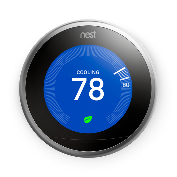 3rd Gen Nest Learning Thermostat (New Ring Colors Available) image 4674135883848
