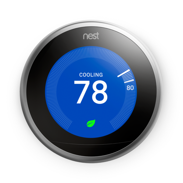 Gen Nest Learning Thermostat - Stainless Steel image 1478826393639