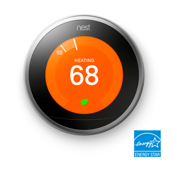 3rd Gen Nest Learning Thermostat (New Ring Colors Available) image 4674135916616