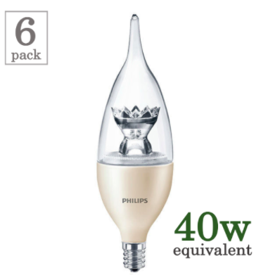 Philips 4.5w E12 Flame Tip LED (6-Pack) image 14826661508