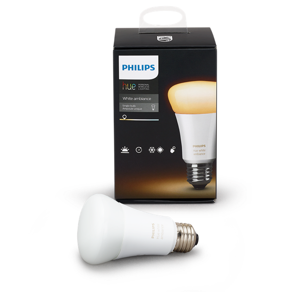 Philips Hue White Ambiance A19 Single Bulb image 17624194696