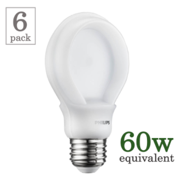 Philips 10.5w LED SlimStyle A19 (6 Pack)