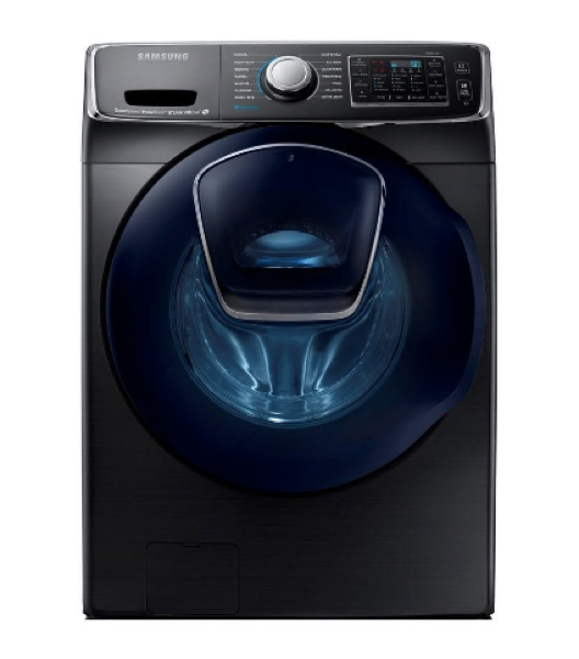 SAMSUNG 5.0 CU. FT. BLACK STAINLESS STEEL STACKABLE WITH STEAM CYCLE FRONT LOAD WASHER - ENERGY STAR - ADDWASH image 23179429896