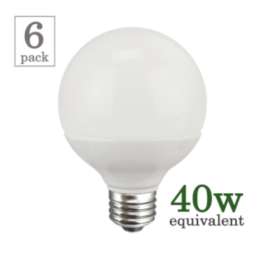 TCP 5w G25 Frosted Globe LED (6 Pack) image 14826702980