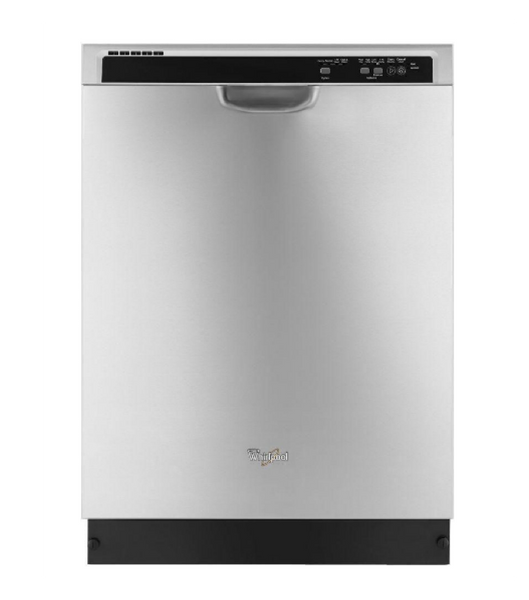 "WHIRLPOOL 24"" STAINLESS STEEL FULL CONSOLE DISHWASHER - ENERGY STAR"