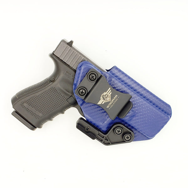 Glock 19/23 - Original Wingman - Blue Carbon Fiber- Right Hand
