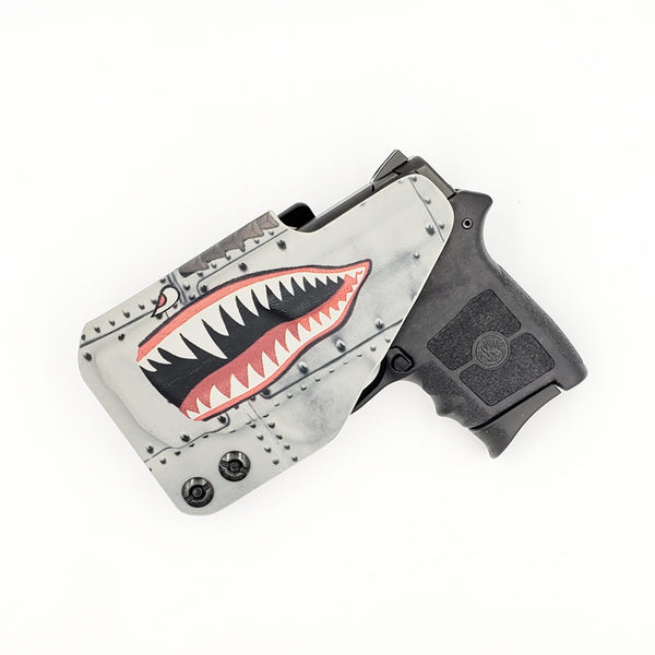 S&W Bodyguard .380 - Fabriclip Wingman - P40 Warhawk (Gunmetal Grey) - Right Hand