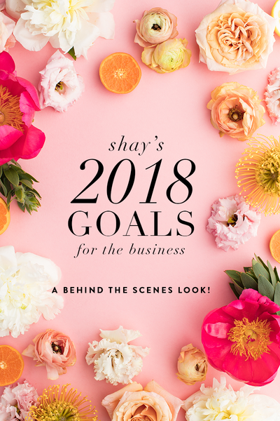 A behind the scenes on Shay's 2018 goals for the business!