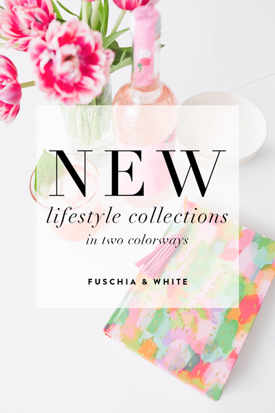 New in the shop: Fuchsia and White Lifestyle Stock Image Collections!