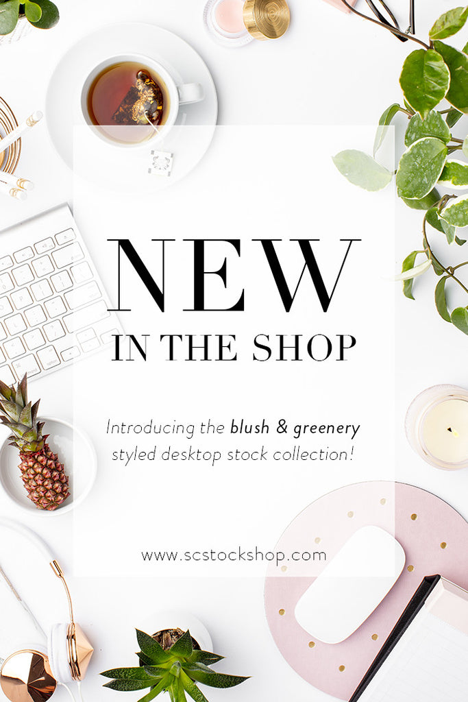 New in the SC Stockshop: Blush and greenery styled stock photography for creatives!