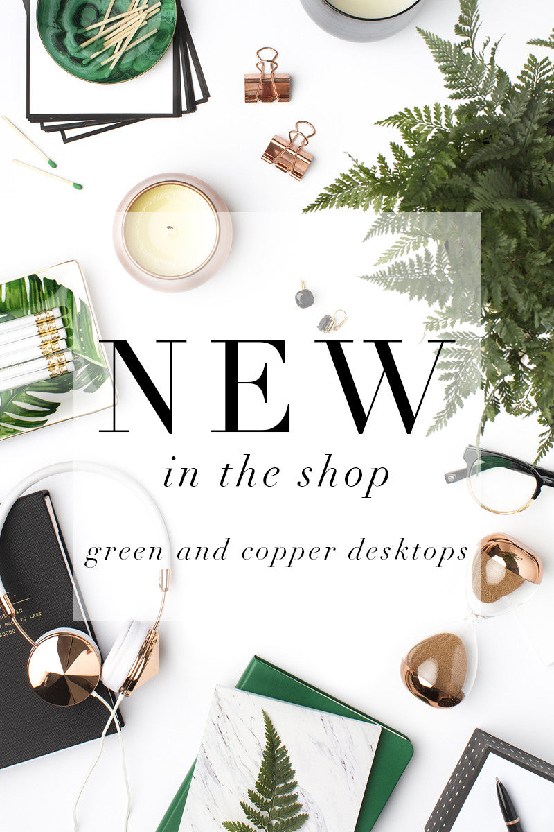 New in the shop: Emerald and Copper Styled Stock Photography