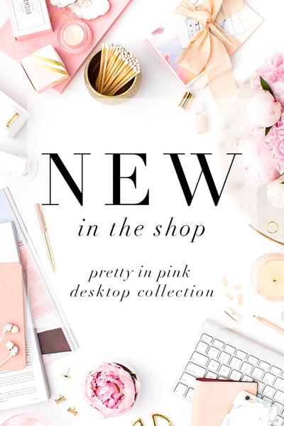 New in the shop: The feminine blush styled stock photography you can't live without