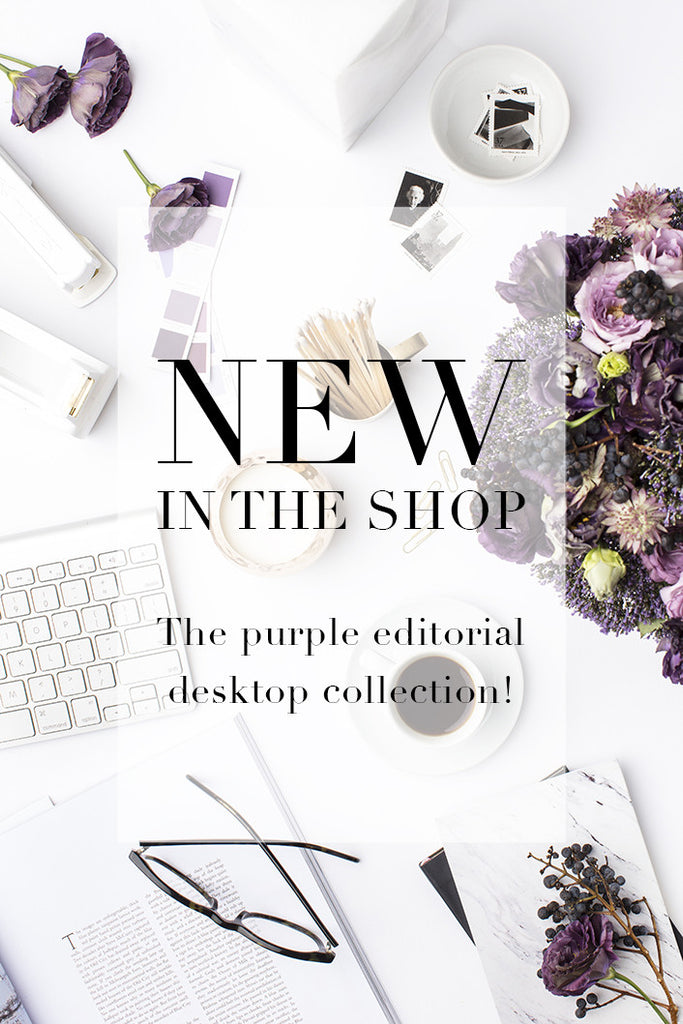 New in the shop: Purple styled stock photography