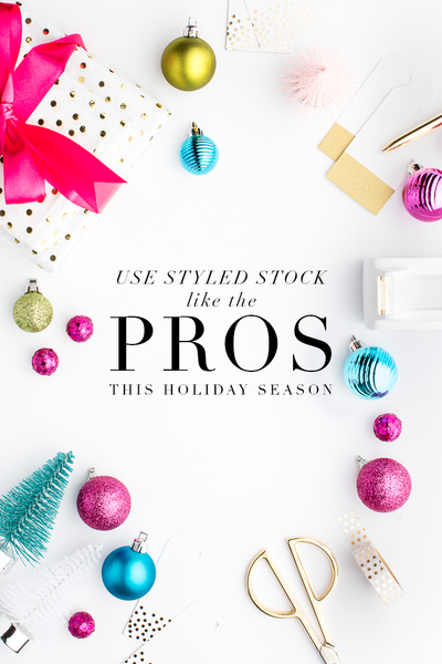How to use holiday styled stock like the major brands this holiday shopping season!
