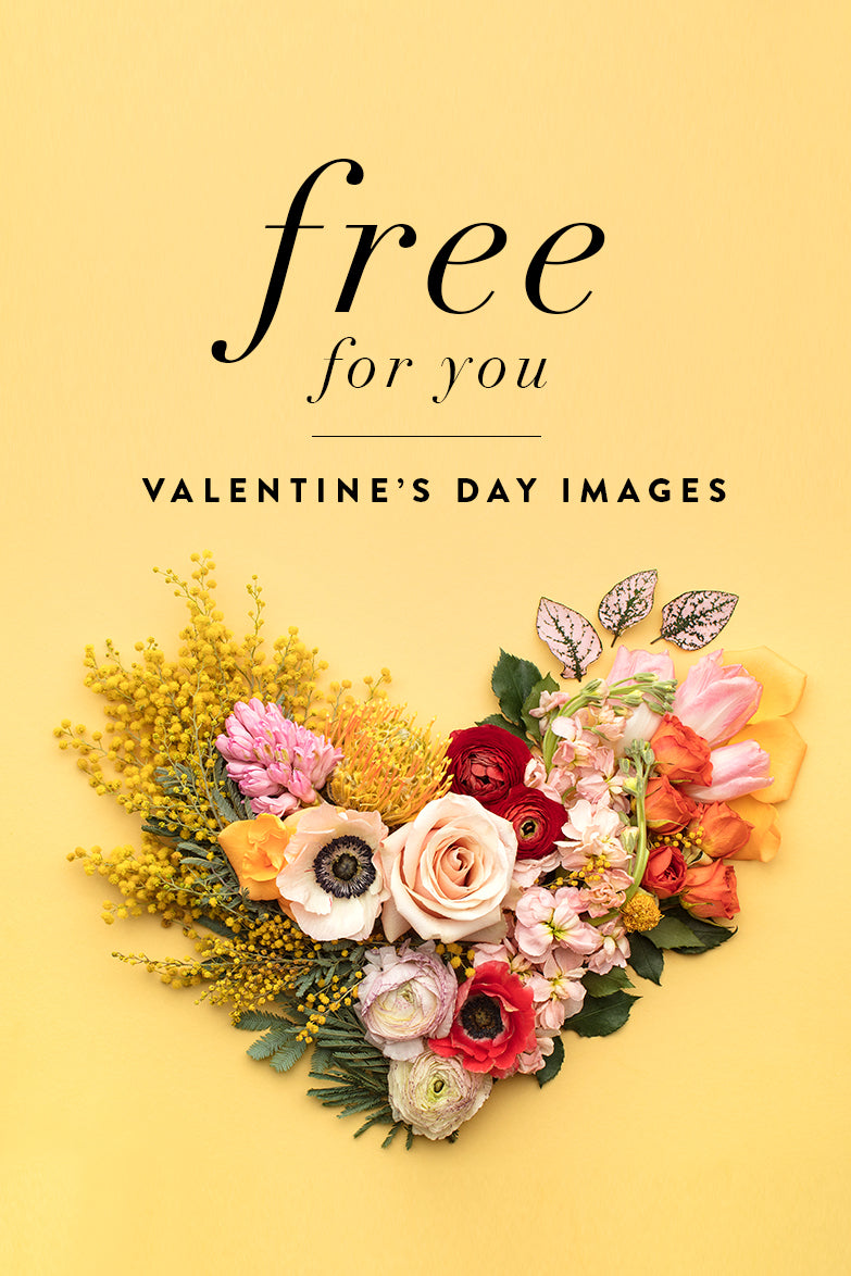 Free Heart Valentine's Styled Stock Images for Social Media from the SC Stockshop & Social Squares
