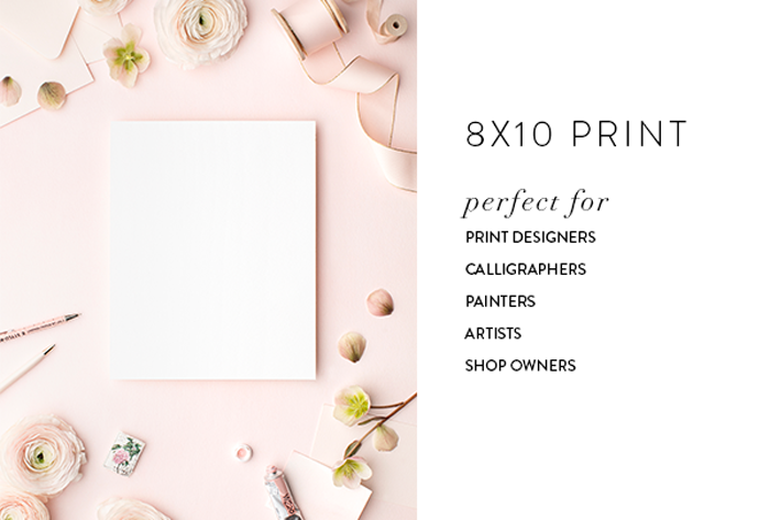 Styled stock for print designers, print shop owners, artists, calligraphers