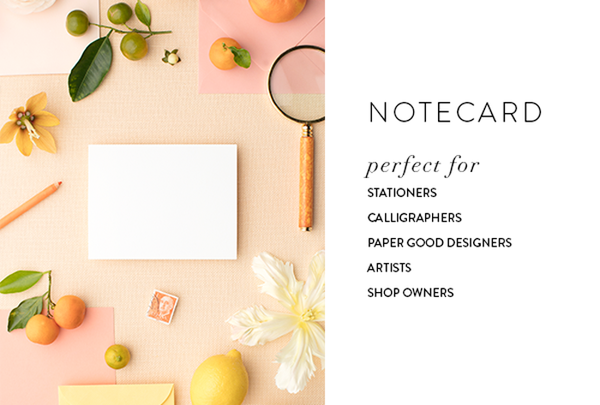 notecard styled stock photography for designers