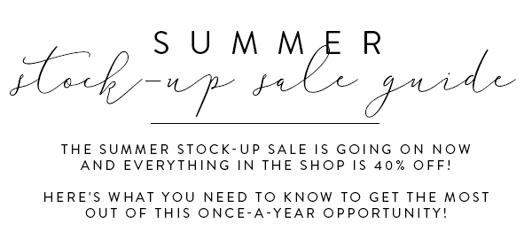 SC Stockshop 40% off summer sale. Discount styled stock photography for business owners