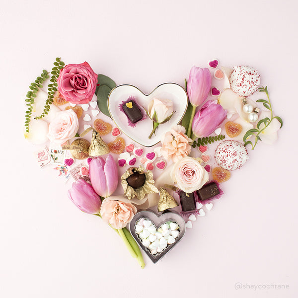 Valentines heart styled stock image for Instagram. Spread the love on social media this Valentine's Day.