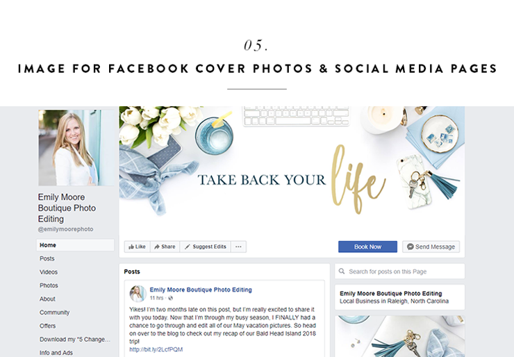 can you use stock photography for social media?