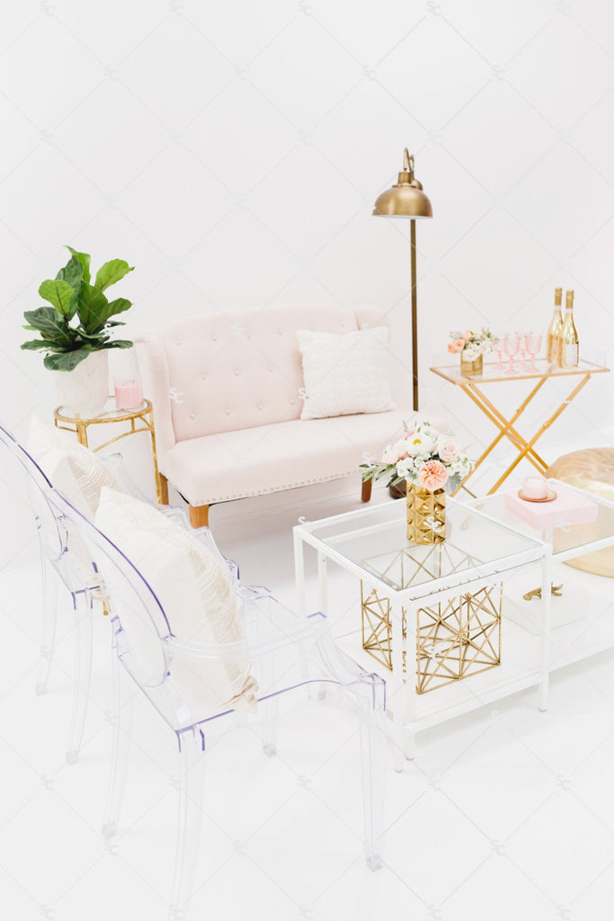 Blush office styled stock photography