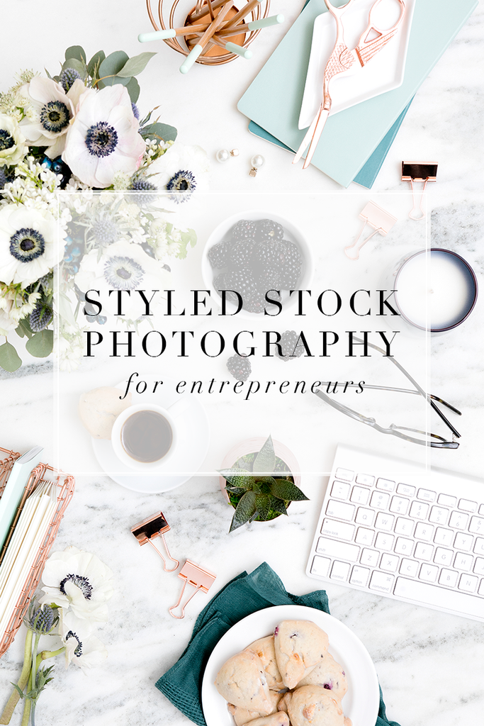 Styled desktop stock image for shop owners.
