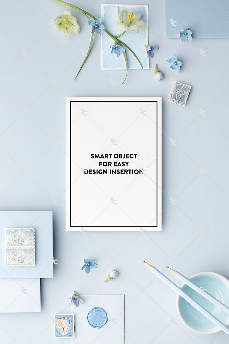 MaeMae x SC Collection: French Blue SET 5 | A7 Stationery