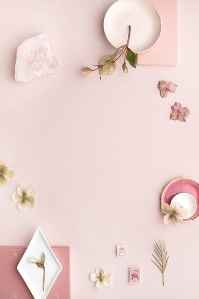 Dusty Rose vertical stationery styled stock