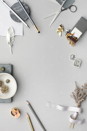 grey vertical stationery styled stock flatlay