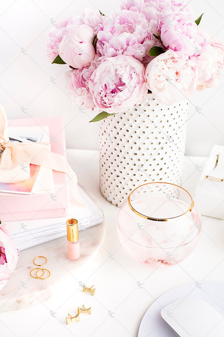 Styled Stock Photography Pretty in Pink Desk Collection #06