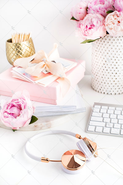 Styled Stock Photography Pretty in Pink Desk Collection #02