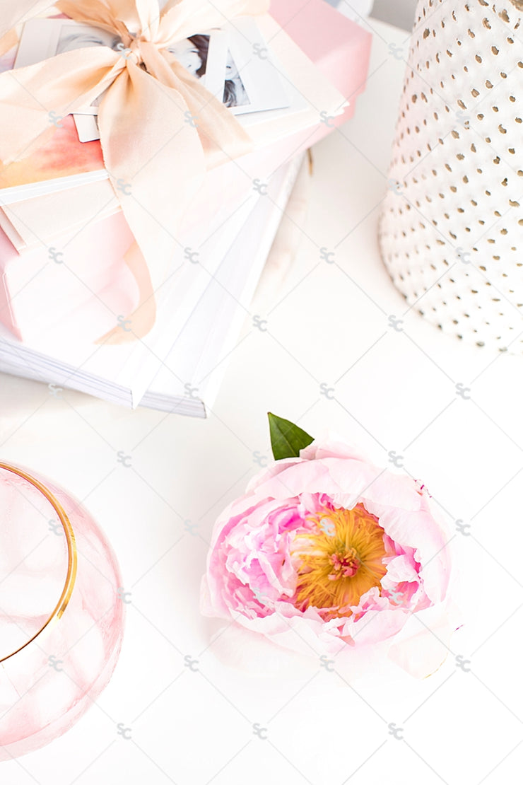Styled Stock Photography Pretty in Pink Desk Collection #01