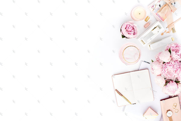 Blush Pink Feminine Styled Stock Photography For Business