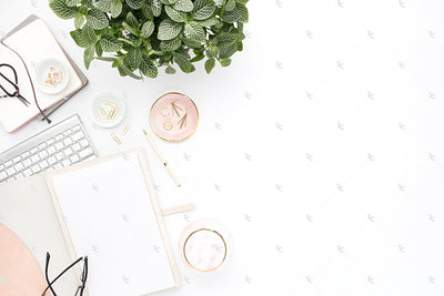Styled Stock Photography Blush and Greenery Desk Collection2 #14