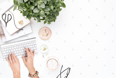 Styled Stock Photography Blush and Greenery Desk Collection2 #12