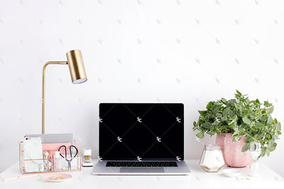 Styled Stock Photography Blush and Greenery Desk Collection2 #11