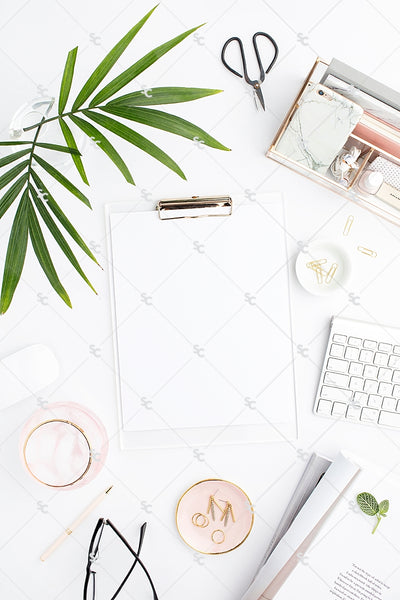 Styled Stock Photography Blush and Palms Desk Collection #13