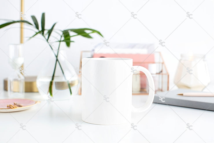 Styled Stock Photography Blush and Palms Desk Collection #10