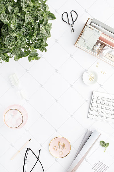 Styled Stock Photography Blush and Greenery Desk Collection2 #04