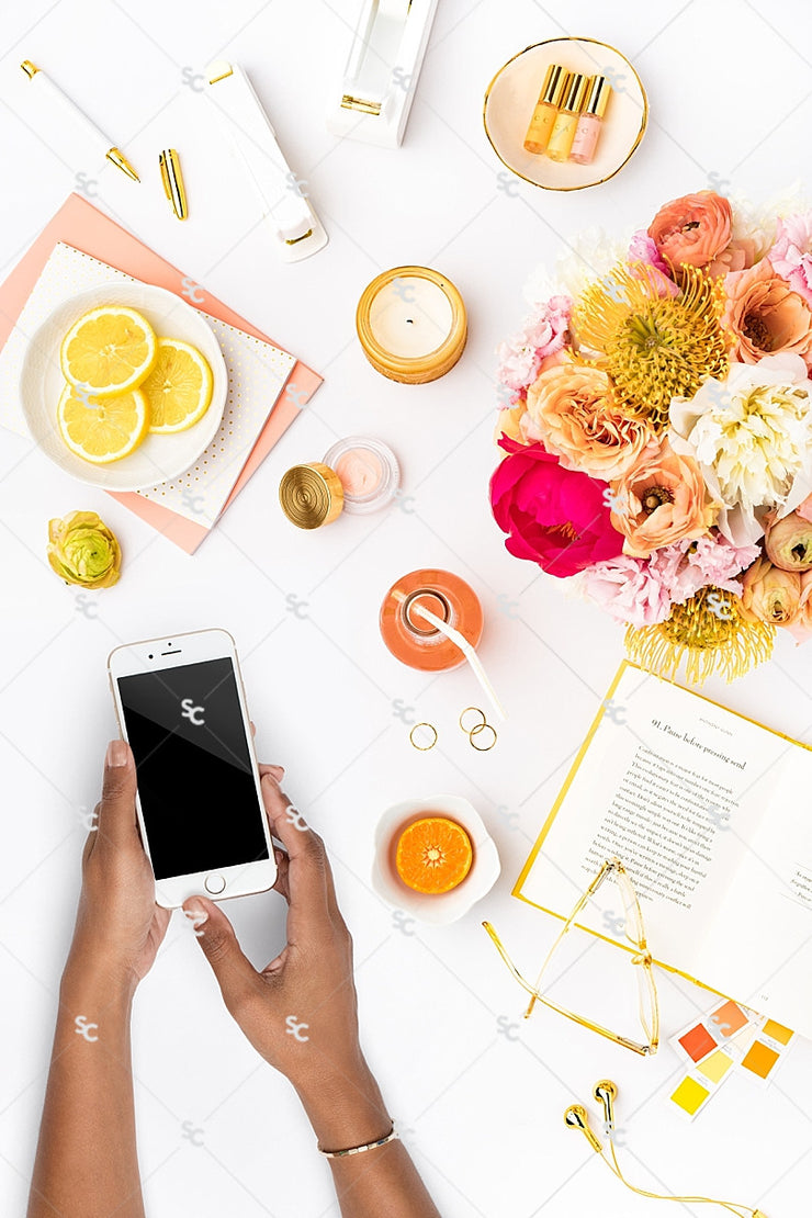 Styled Stock Photography Citrus Desk Collection #24