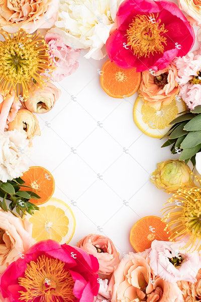 Styled Stock Citrus Floral Collection #02