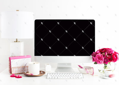 Styled Stock Photography Dark Pink Desk Collection #16